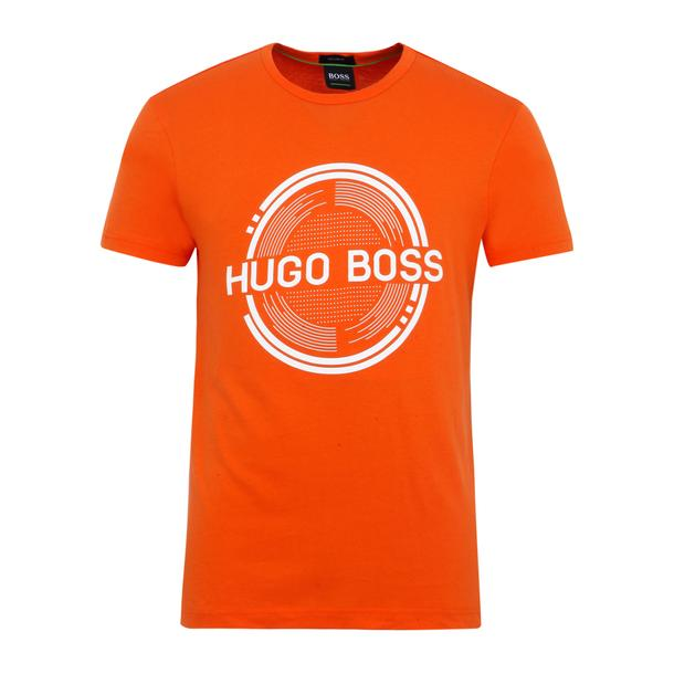 e51e9ba71 Hugo Boss Green T-Shirts, Orange Printed T Shirt for Men at Thecollective.in