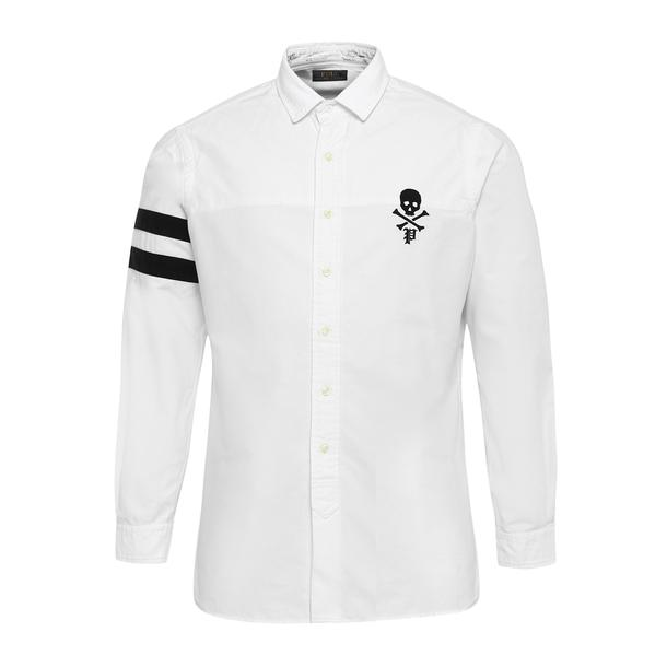 663a2ae9 Polo Ralph Lauren Casual Shirts, White Skull Embroidered Shirt for Men at  Thecollective.in