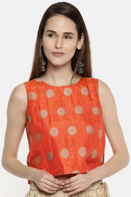 a3e0344345 Akkriti by Pantaloons Tees & Tops, Pantaloons Orange Crop Top for ...