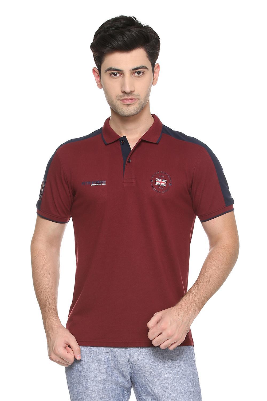 521f1899cef Peter England Maroon T Shirt