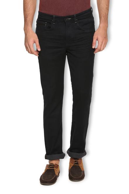 V Dot Jeans Van Heusen Black Jeans For Men At Vanheusenindia Com