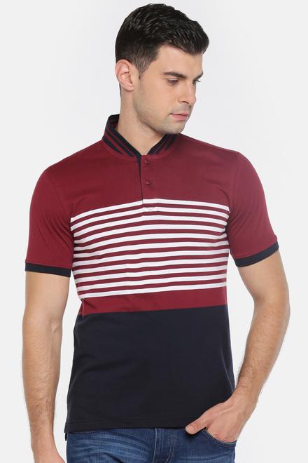 79509894 Bare Denim T-Shirts, Pantaloons Maroon T Shirt for Men at Pantaloons.com