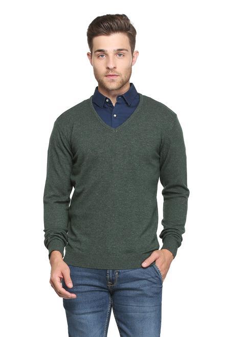 Peter England Sweaters, Peter England Green Sweater for Men at  Peterengland.com