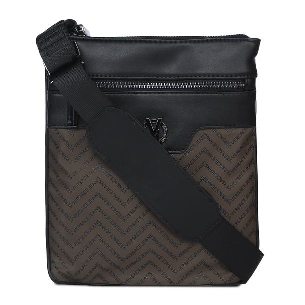 cba3f3b3 Versace Jeans Bags, Olive Chevron Flight Bag for Men at Thecollective.in