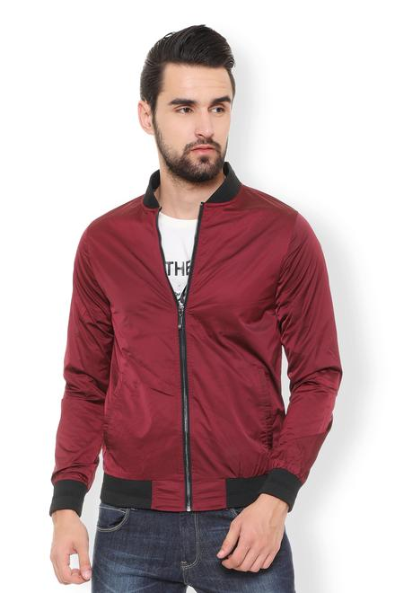 ca145101fc6 V Dot Jackets, Van Heusen Maroon Jacket for Men at Vanheusenindia.com