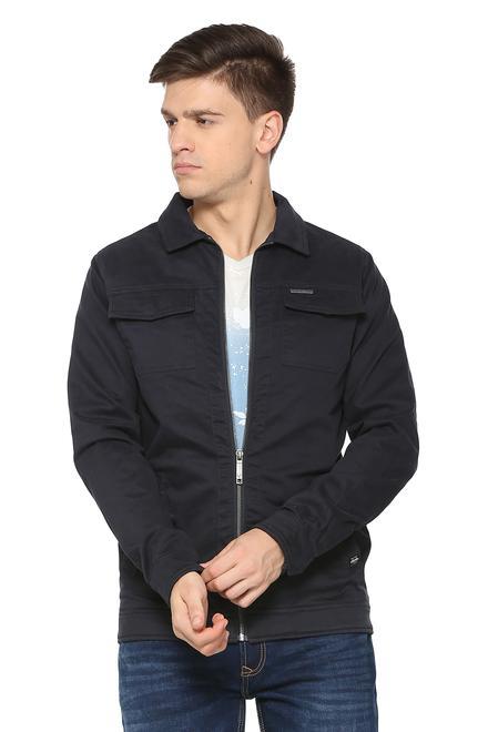 Buy Mens Allen Solly Jacket Leather Jacket Online In India