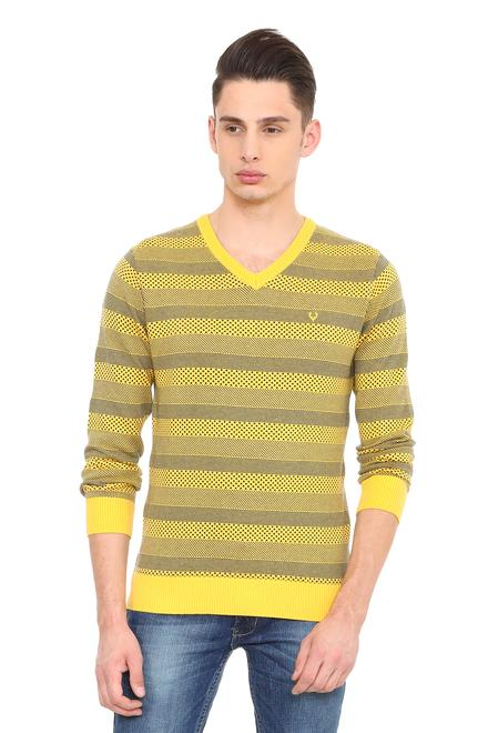 Allen Solly Sweaters, Allen Solly Yellow Sweater for Men at Allensolly.com