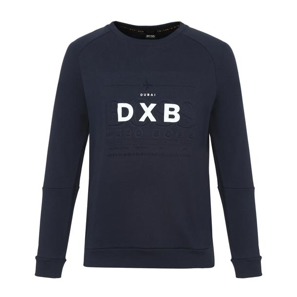 026dcbe45 Hugo Boss Green Sports, Navy Embossed Printed Sweatshirt for Men at  Thecollective.in