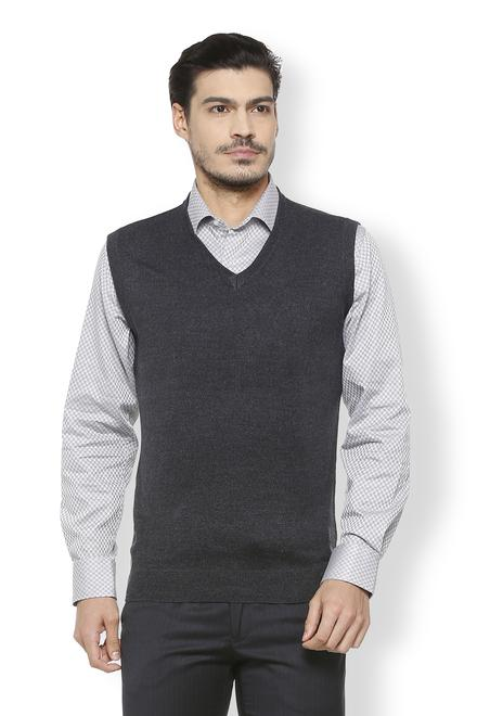 debb0f8122a3f9 Van Heusen Sweaters, Van Heusen Black Sweater for Men at ...