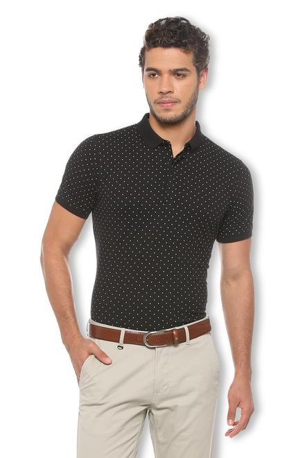 845b04eec1 V Dot T-Shirts, Van Heusen Black T Shirt for Men at Vanheusenindia.com
