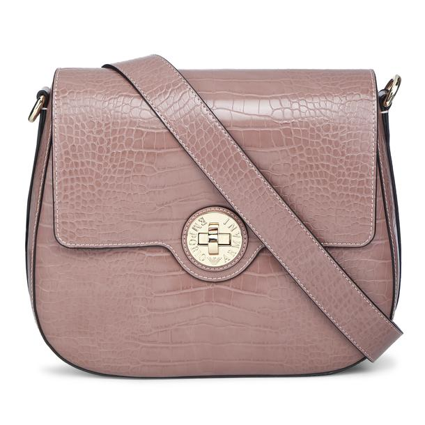 1238475c1b7 Emporio Armani Bags, Beige Croc Patterned Bag for Women at ...