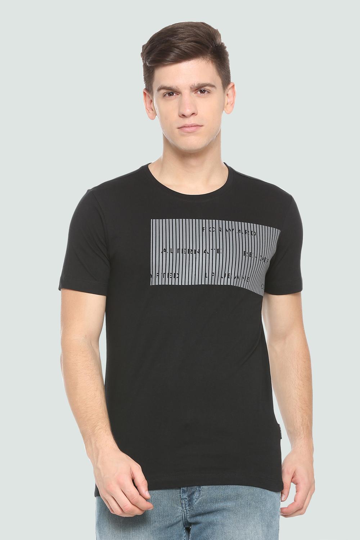 47f053cc89 Louis Philippe Black T Shirt