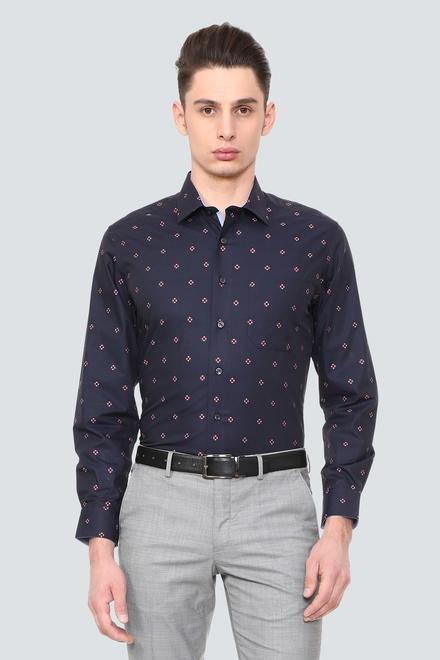 c8c695c7dc897f Louis Philippe Shirts, Louis Philippe Navy Shirt for Men at ...