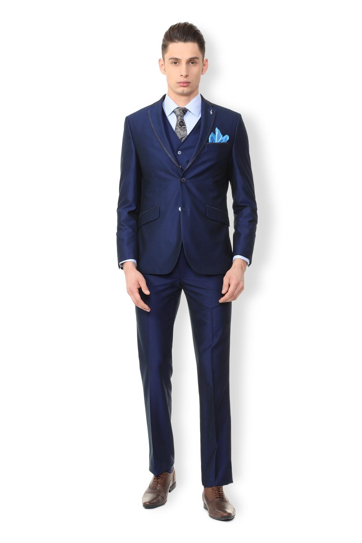 48b905efb23 Van Heusen Blue Reversible Waistcoat Three Piece Suit