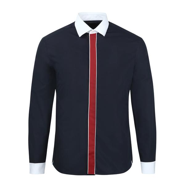 826be17c4 Kenzo Casual Shirts, Navy Contrast Placket Shirt for Men at Thecollective.in