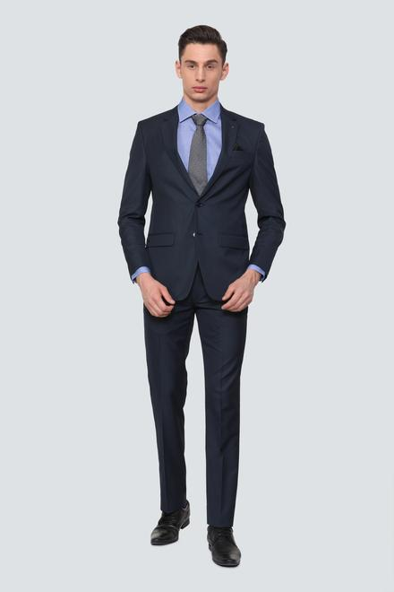 brown blazer navy pants