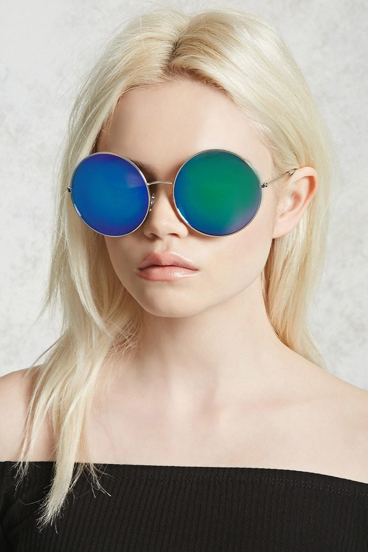 0518f2861 forever21 SUNGLASSES, Mirrored Round Sunglasses for Women at Forever21.in