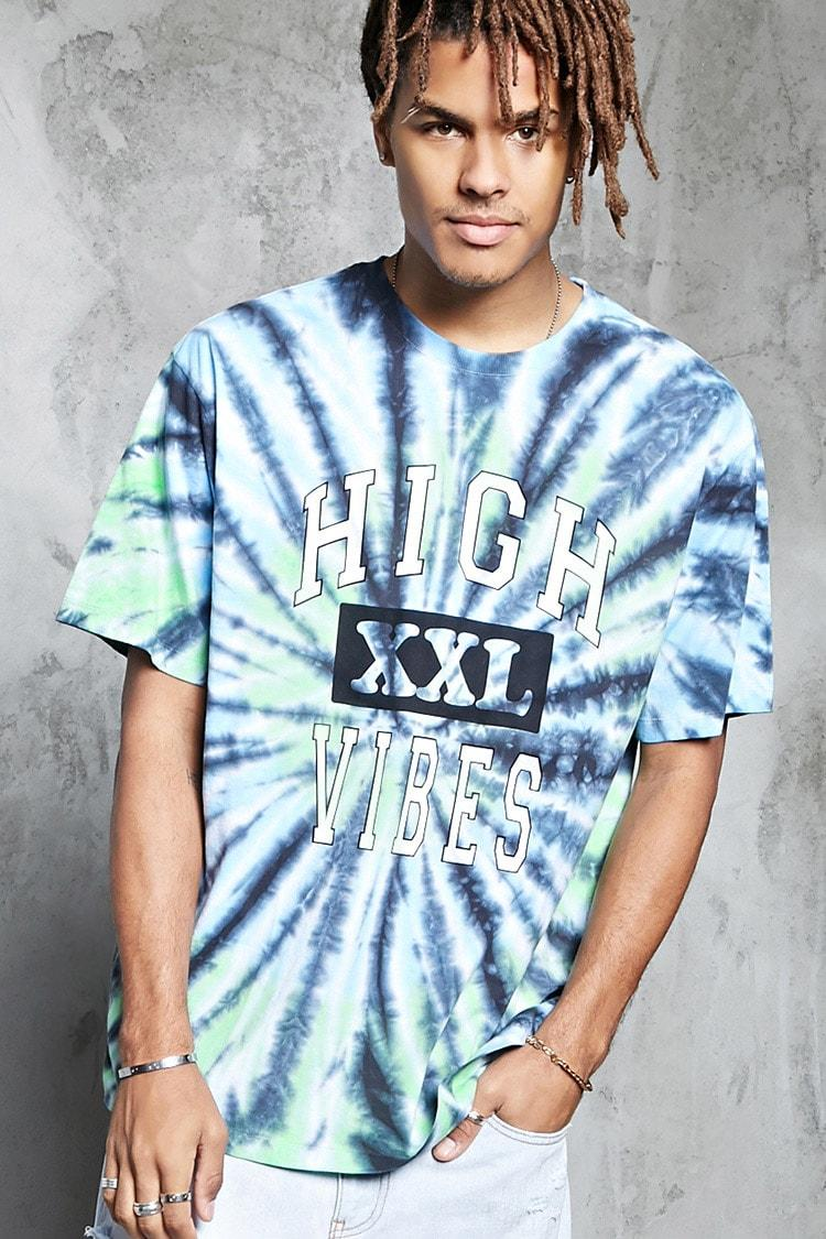 9d500c422a51 forever21 LOGO, High Vibes Tie-Dye Tee for Men at Forever21.in