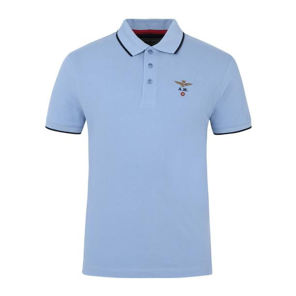35ba0e2c Aeronautica Militare Polos, Sky Blue Logo Polo for Men at Thecollective.in