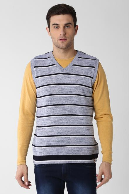 Peter England Grey Reversible Sweater