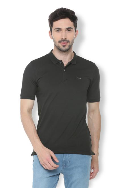7835d7334f Van Heusen T-Shirts, Van Heusen Black T Shirt for Men at ...