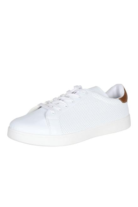 Peter England White Casual Shoes