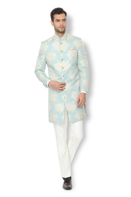 V Dot Suits Blazers Van Heusen Blue Two Piece Suit For Men At Vanheusenindia Com