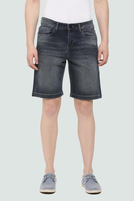bd039d7961b9 LP Jeans Shorts, Louis Philippe Black Shorts for Men at Louisphilippe.com