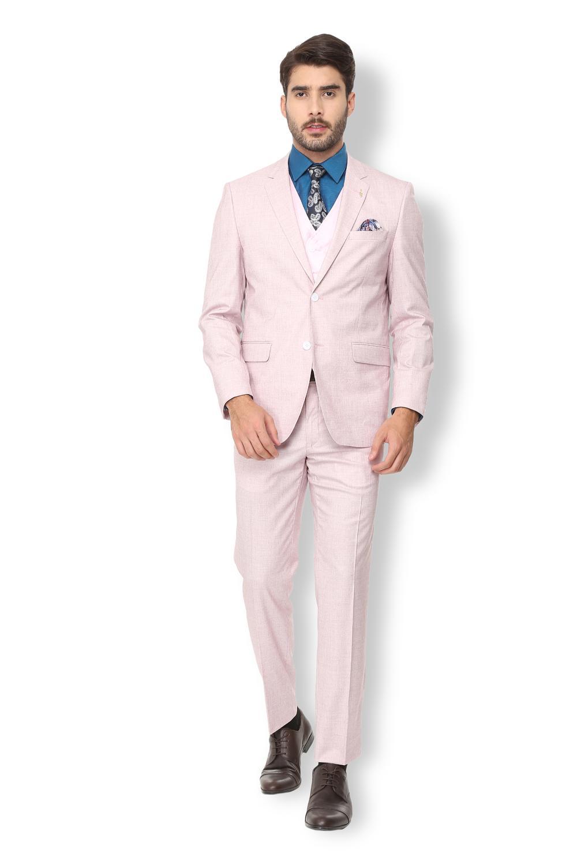 56f35af431e Van Heusen Pink Three Piece Suit