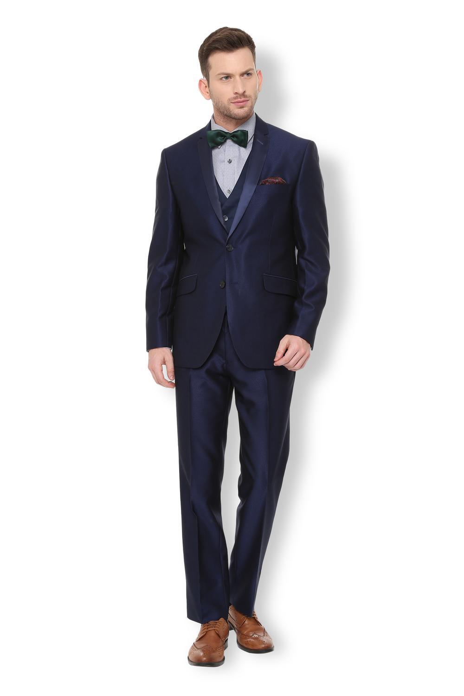580af8442e1 Van Heusen Blue Three Piece Suit