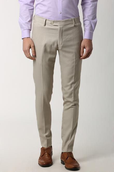 casual shoes Discover discount sale Peter England Trousers & Chinos, Peter England Cream Formal Trousers for  Men at Peterengland.com