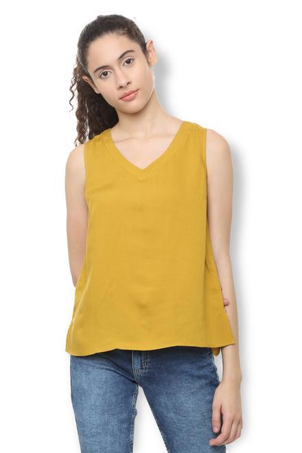 a43b95b9f720d1 Van Heusen Woman Tees & Tops, Van Heusen Yellow Top for ...