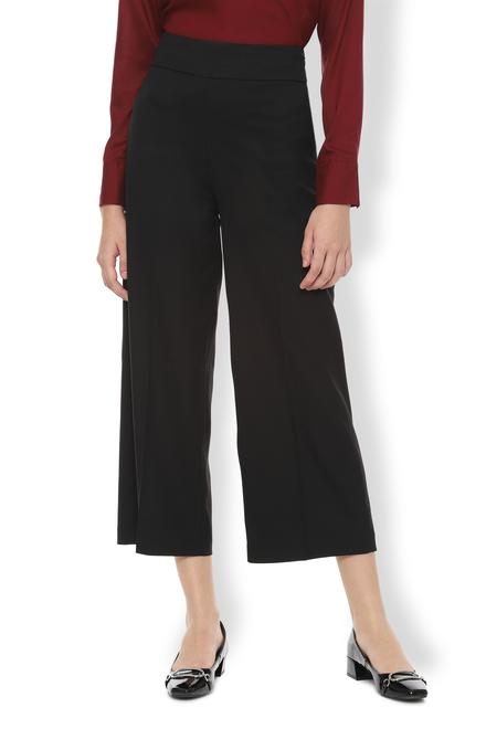 Van Heusen Woman Skirts, Van Heusen Black Culottes for Women at  Vanheusenindia.com