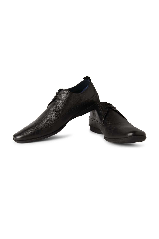 Louis Philippe Footwear Louis Philippe Black Lace Up Shoes For Men