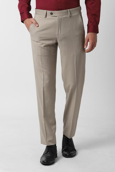 reasonable price closer at exceptional range of styles and colors Peter England Elite Trousers & Chinos, Peter England Beige Formal Trousers  for Men at Peterengland.com