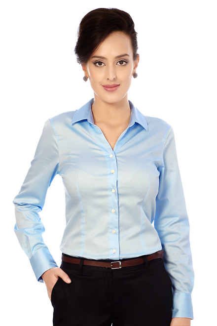 a463c2f9a8c8 Van Heusen Woman Shirts & Blouses, Van Heusen Blue Shirt for Women ...