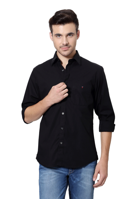 34eea87b8e LP Shirts, Louis Philippe Black Shirt for Men at Louisphilippe.com