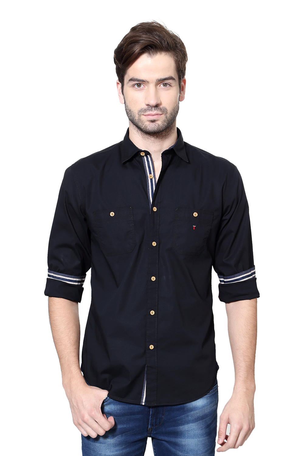 LP Jeans Shirts, Louis Philippe Black Shirt for Men at ...