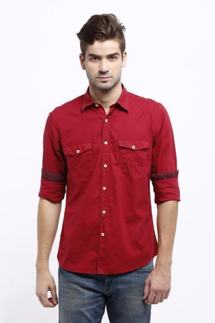 8eeec0b9e671 Solly Jeans Co Shirts, Allen Solly Red Shirt for Men at Allensolly.com